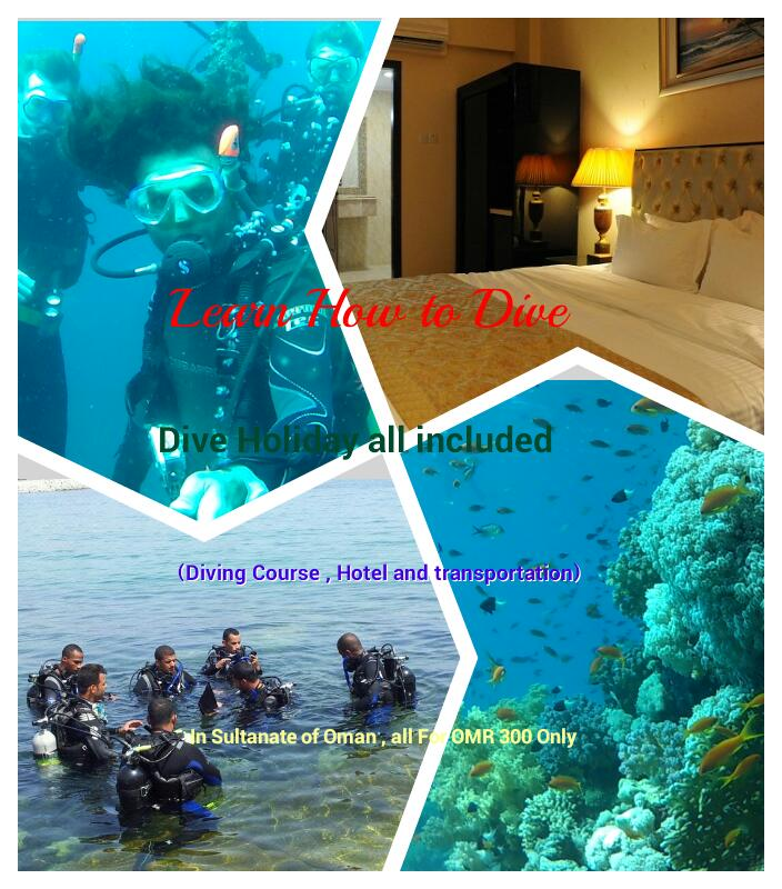 dive courses holidays all included in oman ,Muscat